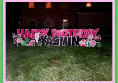 Birthday Celebration Yard Sign Near Me