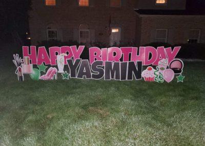 Yard Card Birthday Sign