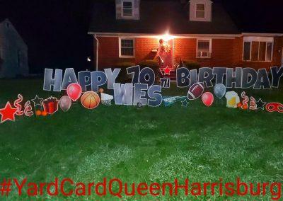 Happy Birthday Grandparents Yard Sign
