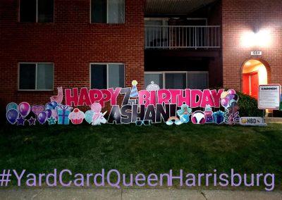 Large Happy Birthday Yard Sign