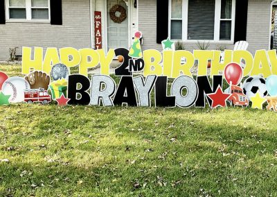 Birthday Yard Sign For Younger Boy