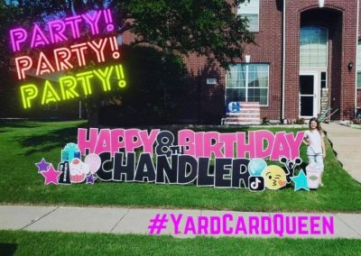 Birthday Yard Sign For A Girl Jackson, Mississippi