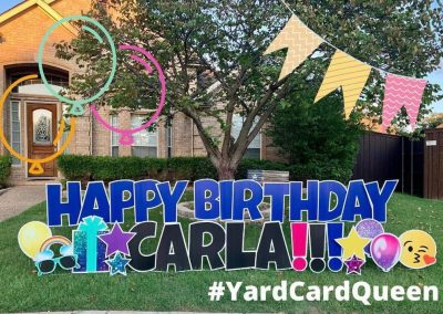Yard Sign Rental For Birthday in Jackson MS