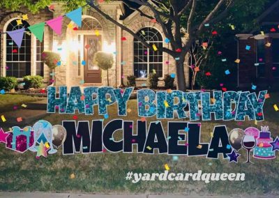 Personalized Birthday Yard Sign Rental Company