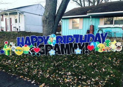 Happy Birthday Yard Sign For Grandparent