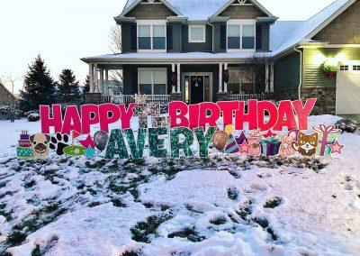 Fun Birthday Celebration Yard Signs