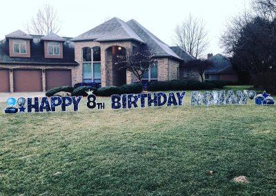Fun Birthday Yard Sign Rental