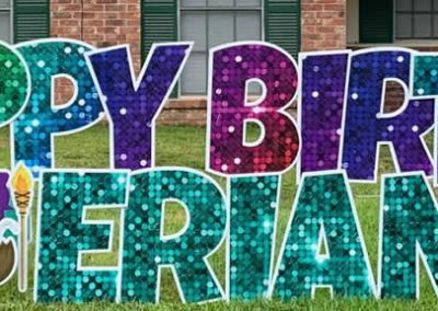 Large Happy Birthday Yard Signs