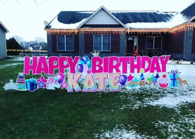 Little Girl Birthday Yard Signs