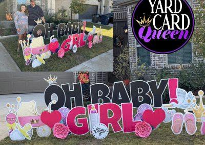 Birth Announcement Yard Sign in McKinney