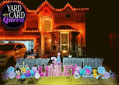 Kid Theme Birthday Yard Sign Celebration