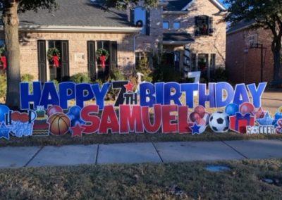 Boy Themed Birthday Yard Sign Rentals