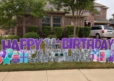 Big Glittery Birthday Yard Sign