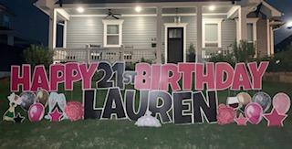 Happy 21st Birthday Yard Sign Rental Near Me