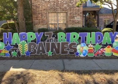 Boy Themed Birthday Yard Sign Rental in McKinney