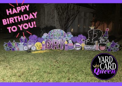 Large Sign For Happy Birthday