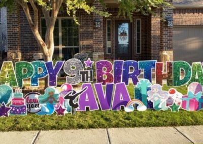 Mermaid Themed Birthday Yard Sign Rental