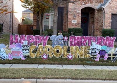 Sweet 16 Birthday Yard Sign Rental