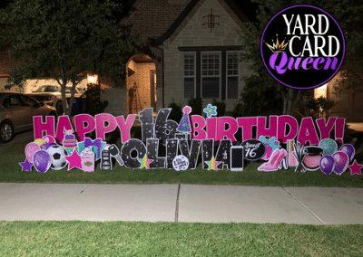 Sweet 16 Birthday Yard Sign