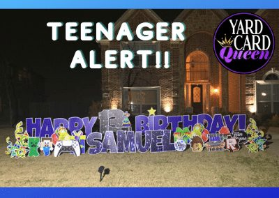 Birthday Yard Sign For A Teenager