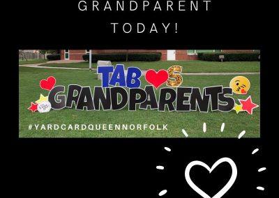 Celebrate Grandparents With A Yard Sign