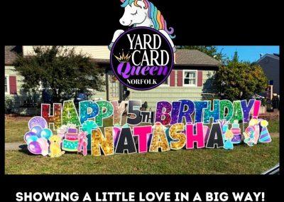 Yard Sign Rental For Birthday Celebration