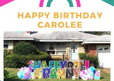 Happy Birthday Yard Sign For Grandparents Norfolk, VA
