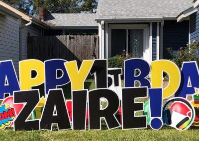 Kids Birthday Yard Sign Rental in Norfolk