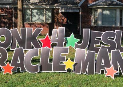 Celebrate Jesus Yard Sign Rental