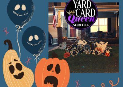 Happy Halloween Yard Sign Rental Service