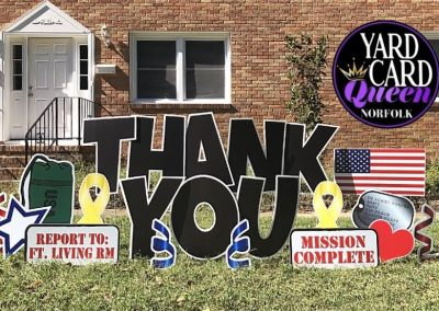 Thank You Military Yard Sign