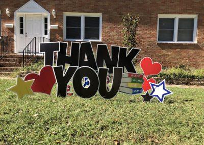 Thank You Yard Sign Rental