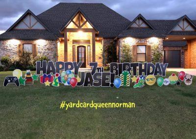 Birthday Yard Sign Rental Oklahoma City
