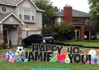 Happy Birthday Lawn Sign Rental Oklahoma City