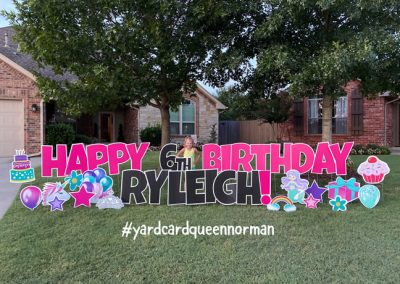 Girl Themed Happy Birthday Yard Sign Rental