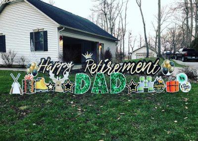 Retirement Yard Sign Rental