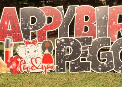 Happy Birthday Yard Sign Rental Richmond, Texas