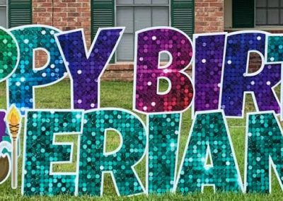 Birthday Lawn Sign Rental Richmond, TX
