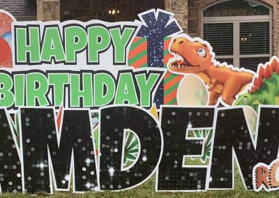 Dinosaur Theme Birthday Yard Sign Rental