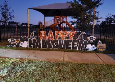 Happy Halloween Yard Sign Rental in Tomball, Texas