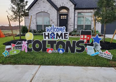 Welcome Home Yard Sign Rental Tomball, TX