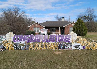 College Graduation Yard Sign Rental in Tyler, Texas
