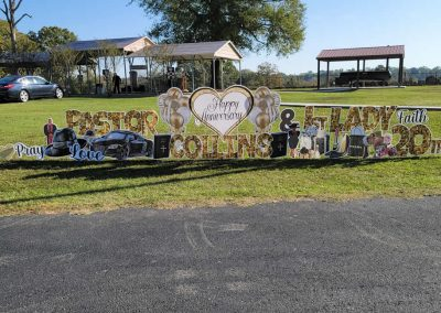 Happy Anniversary Yard Sign Rental Near Me in Tyler, TX
