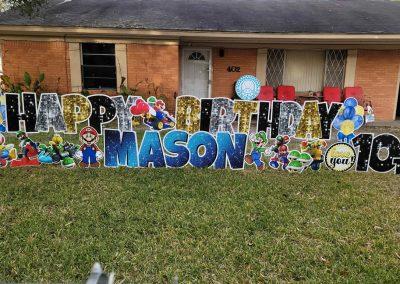Happy Birthday Yard Sign Boy Theme - Tyler, Texas