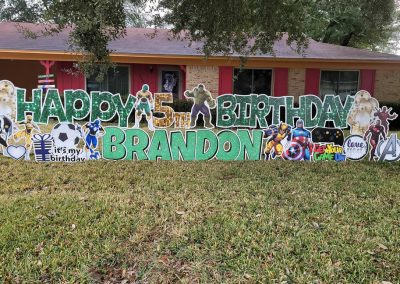 Super Hero Themed Birthday Party Sign Rental