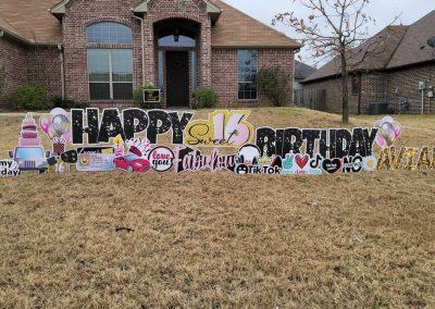Birthday Yard Sign Rental Sweet 16