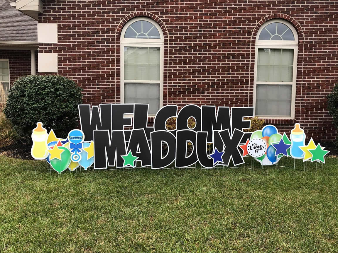 Welcome Home Baby Yard Signs
