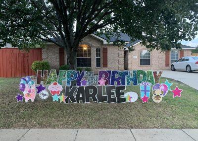 Happy Birthday Yard Sign Rental in Wylie, Texas