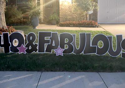 40 and Fabulous Yard Sign Rental
