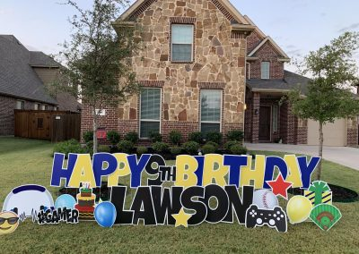 Lawn Sign Birthday Celebration